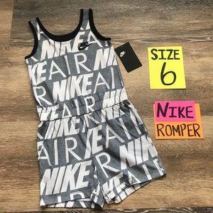 NWT Nike Girls Size 6 Romper